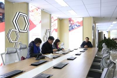 阿拉善盟委宣传部一行实地考察调研呼和浩特融媒体传播中心